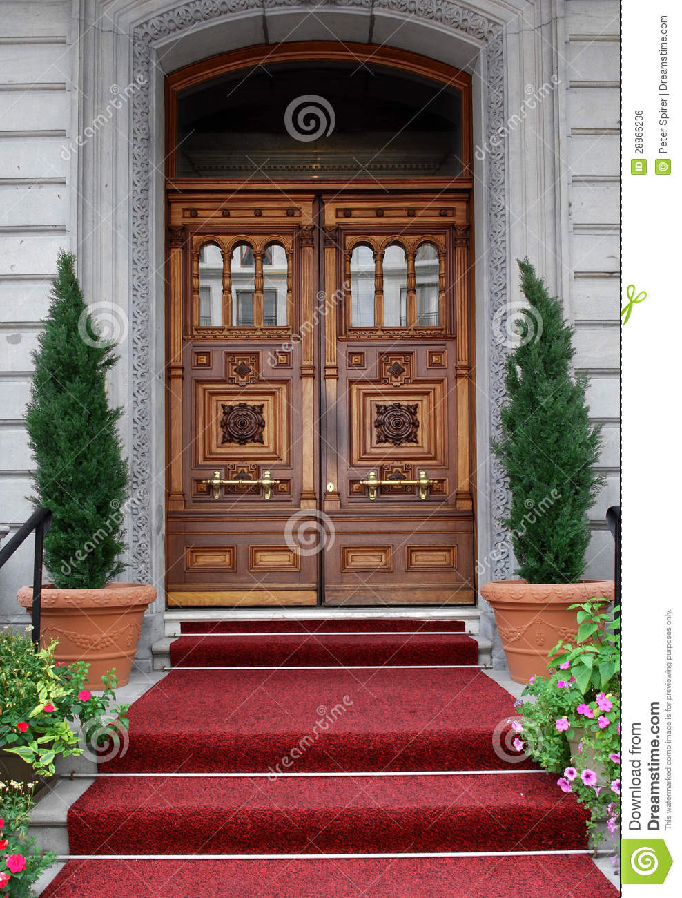 Elegant front door royalty free stock image image 28866236 for Elegant front doors