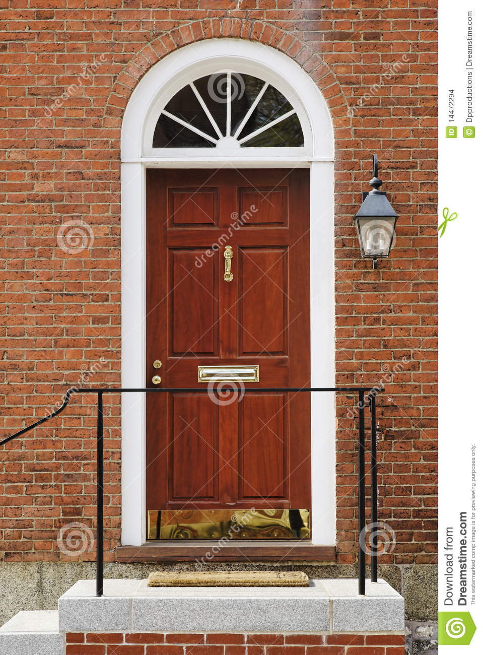 Elegant front door in a brick building stock photo image for Elegant front doors