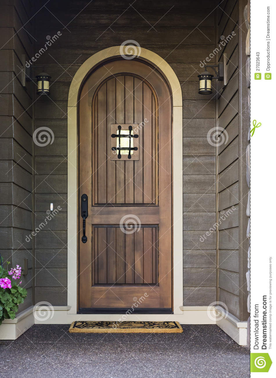 Elegant Front Door Of An Upscale Home Stock Image Image