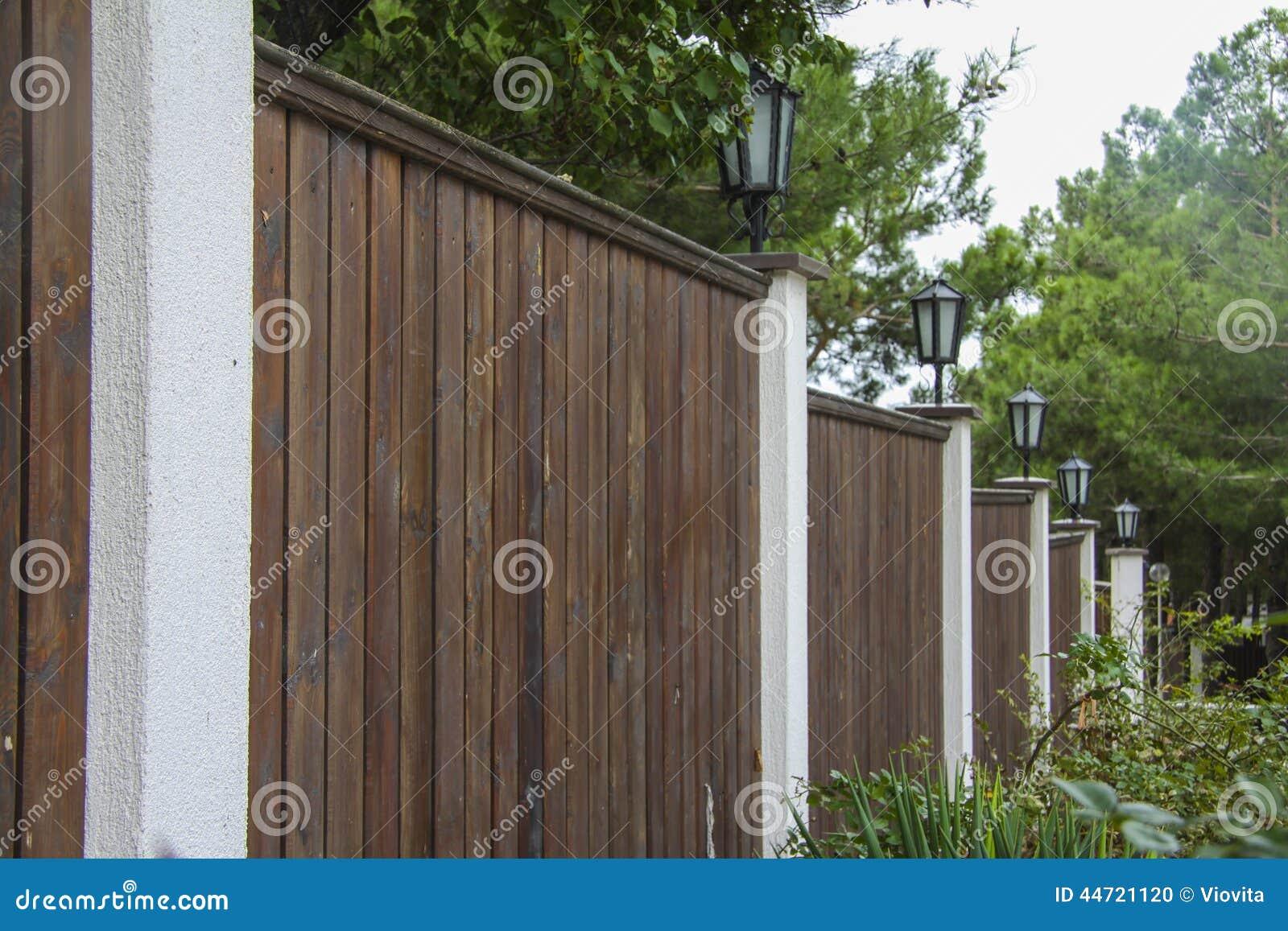 Elegant Gate And Fence On House Entrance Stock Photo - Image: 44721120