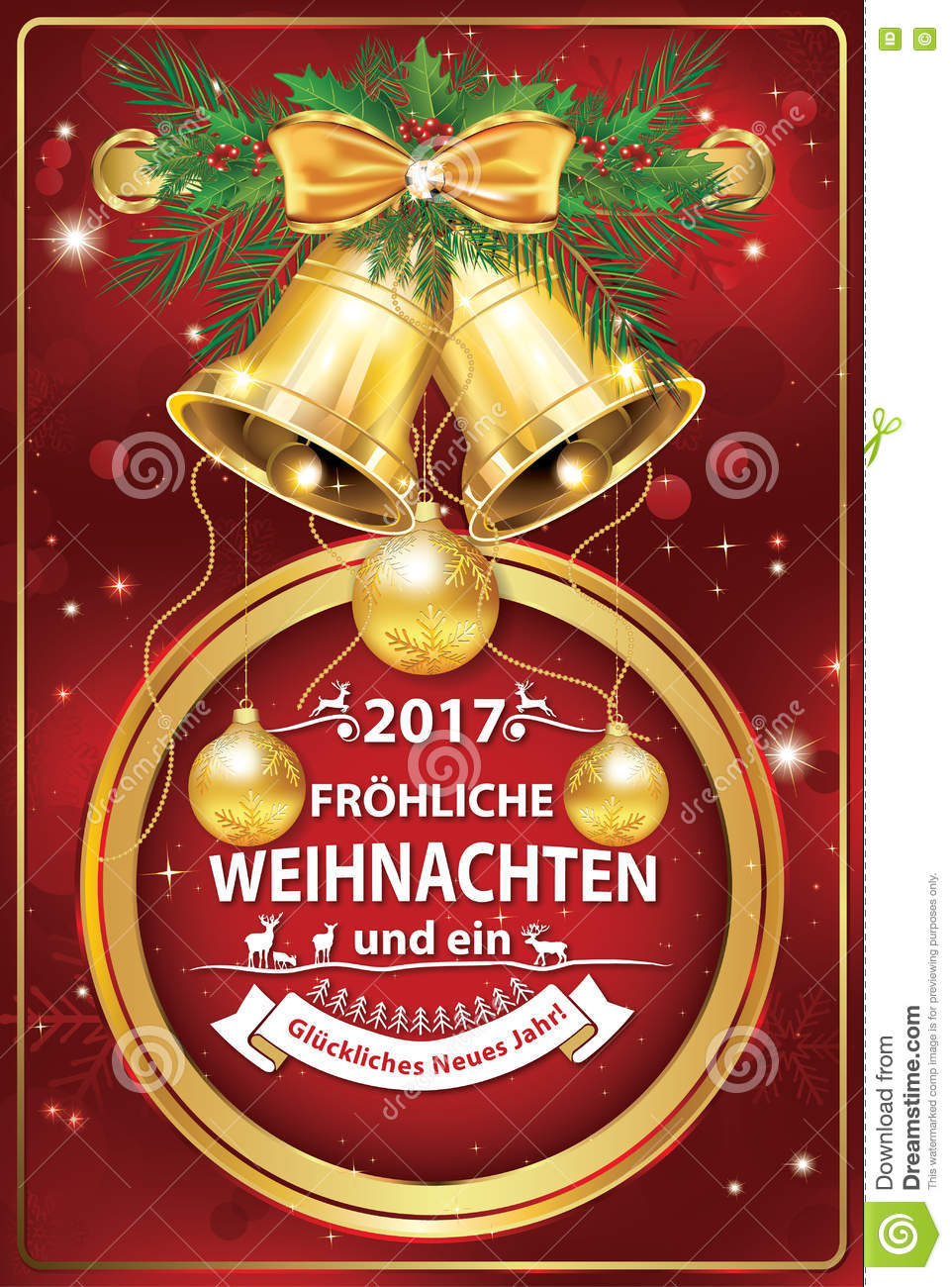 Elegant German Corporate Greeting Card For Winter Holiday ...