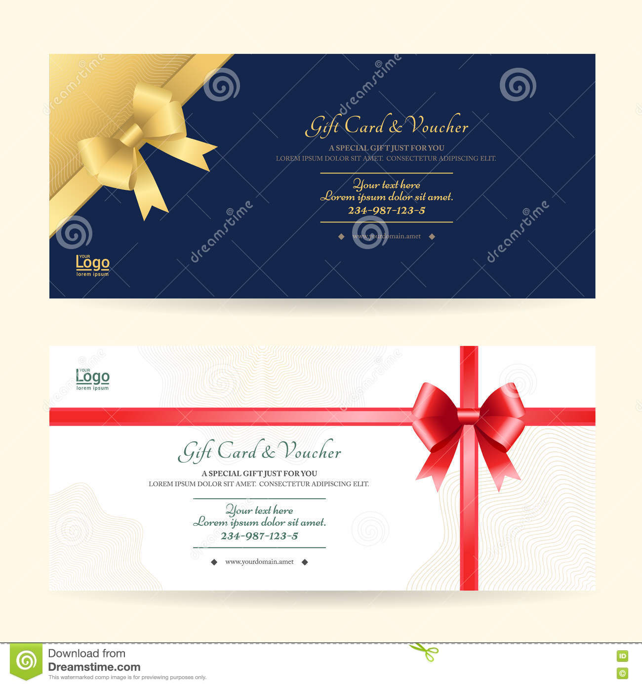 Elegant Gift Voucher Or Gift Card Template Vector Image – Voucher Card Template