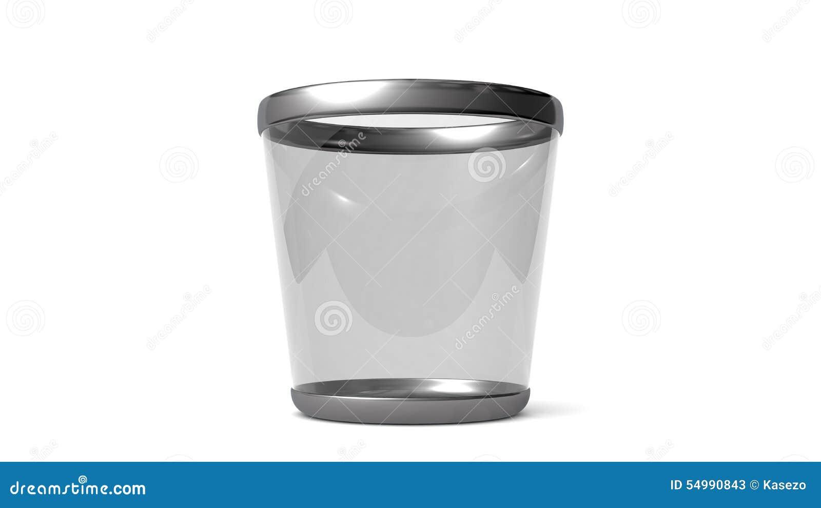 Elegant glass soptunna