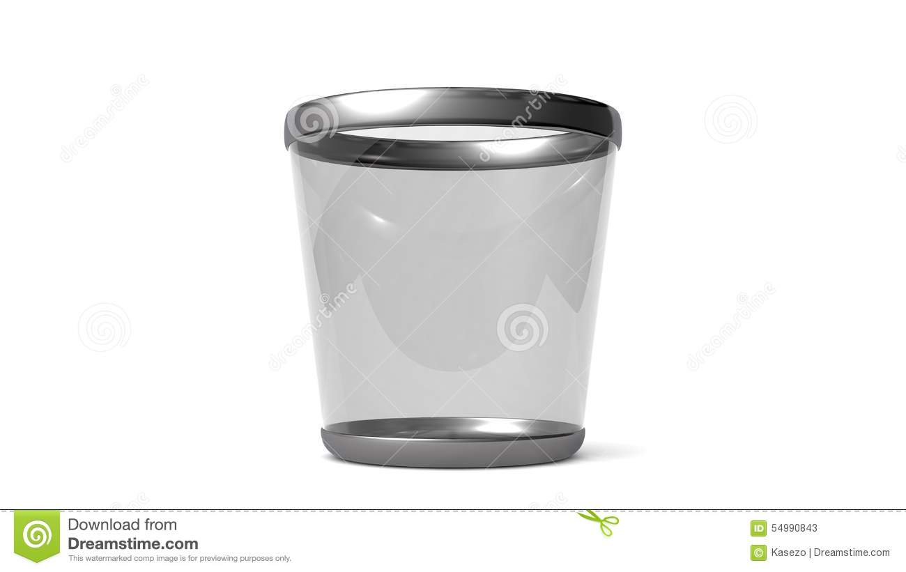 Elegant glass trash can. stock illustration. Illustration of basket ... 6bfa1ad54964