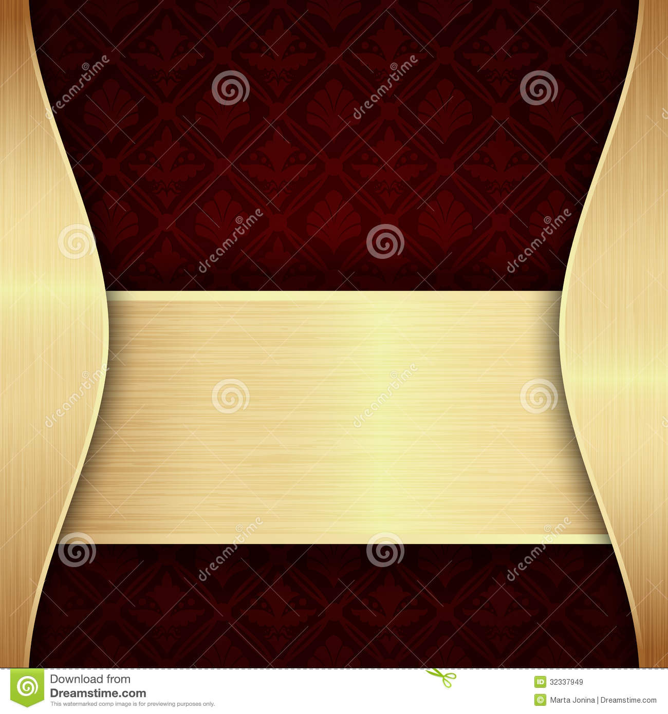 Dark red and gold background Elegant Red And Gold Background