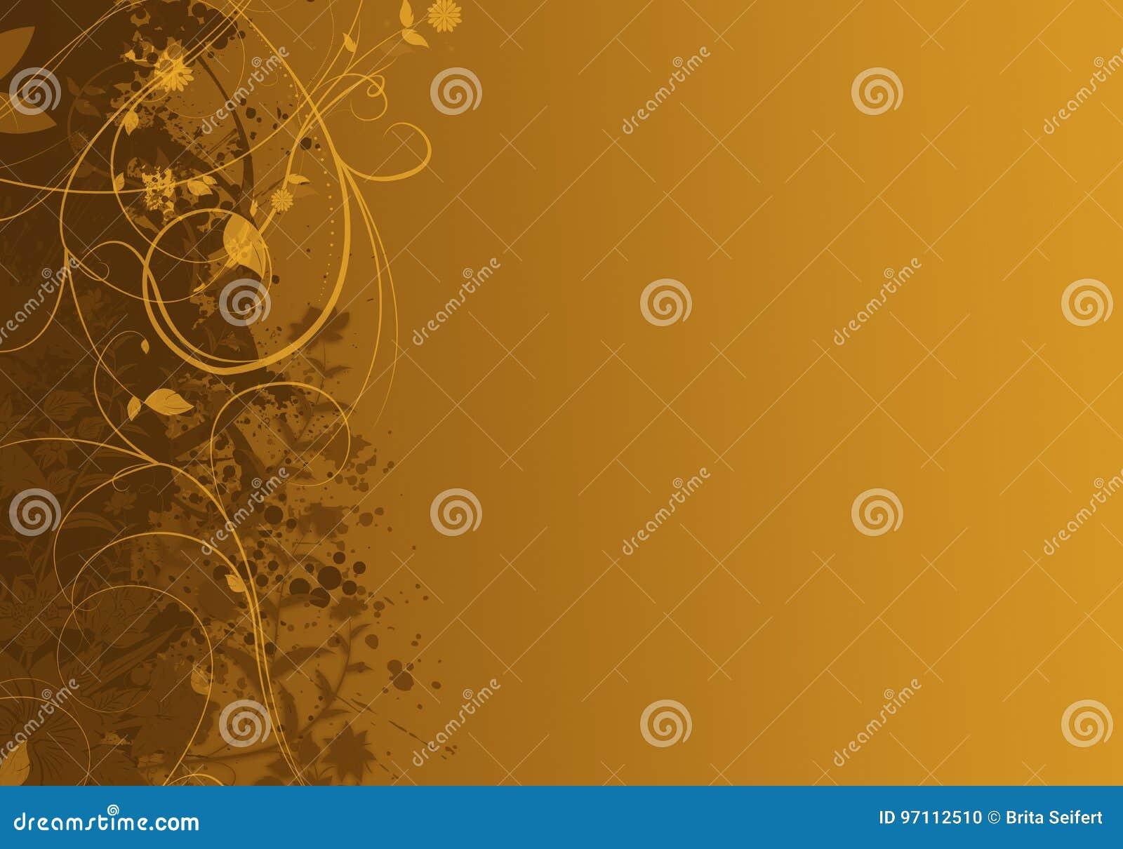 Elegant gouden abstract ontwerp als achtergrond