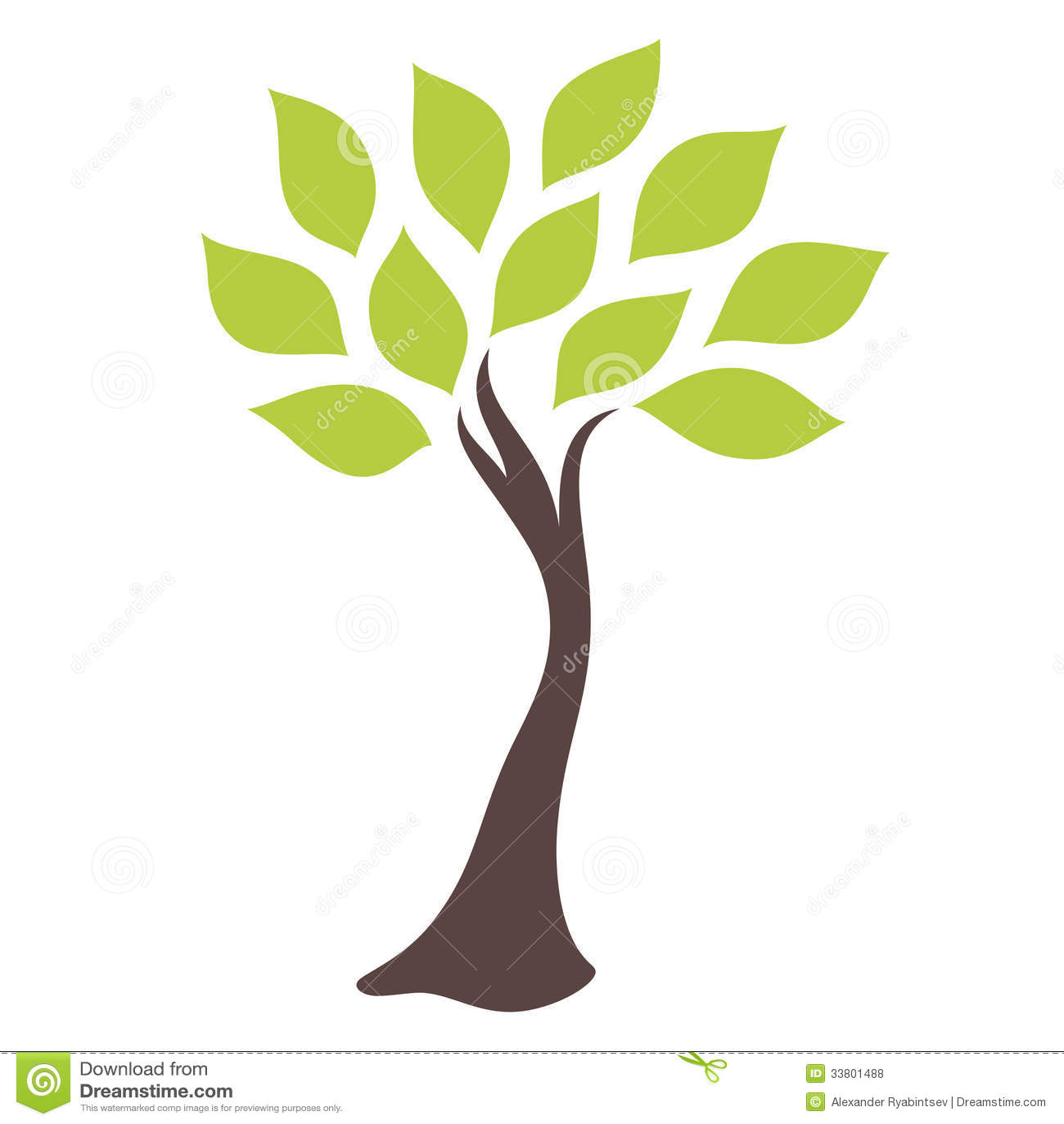 Elegant Green Tree Royalty Free Stock Photos - Image: 33801488