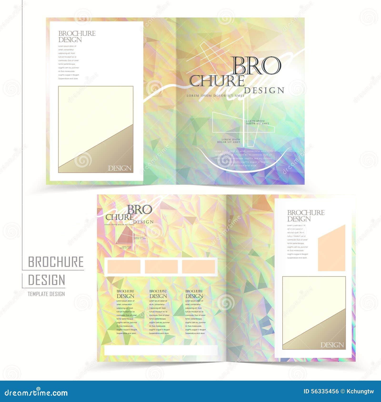 elegant half fold brochure template design stock vector illustration of bright information. Black Bedroom Furniture Sets. Home Design Ideas