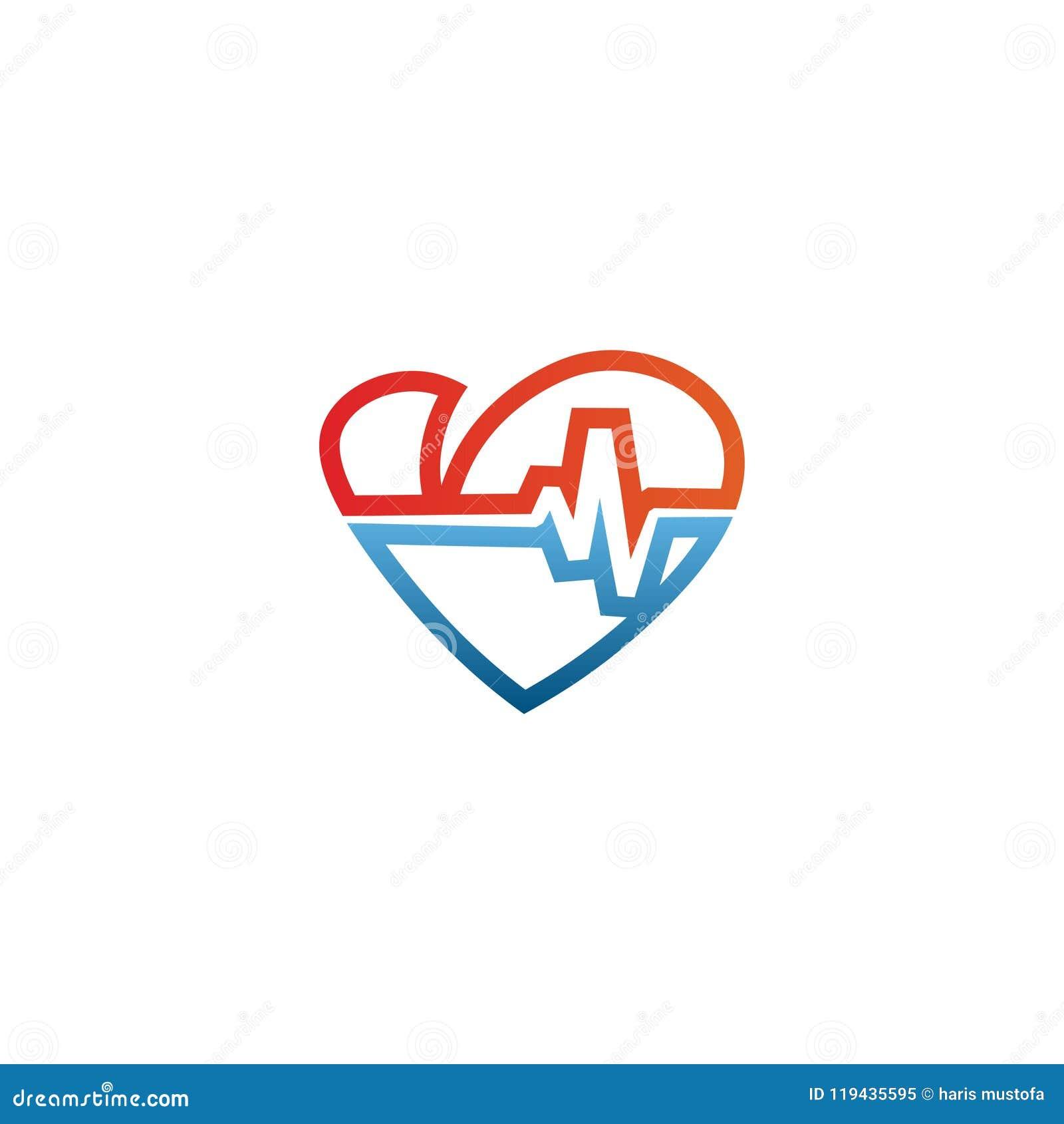 Elegant Logo Outline Wiring Diagrams Voltage Control Circuit Get Domain Pictures Getdomainvidscom Heart And Ekg Design Template Stock Vector Rh Dreamstime Com Shapes Fonts