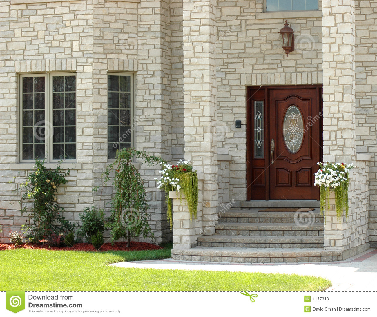 Pictures For House: Elegant House Entrance 3 Stock Image. Image Of Bushes