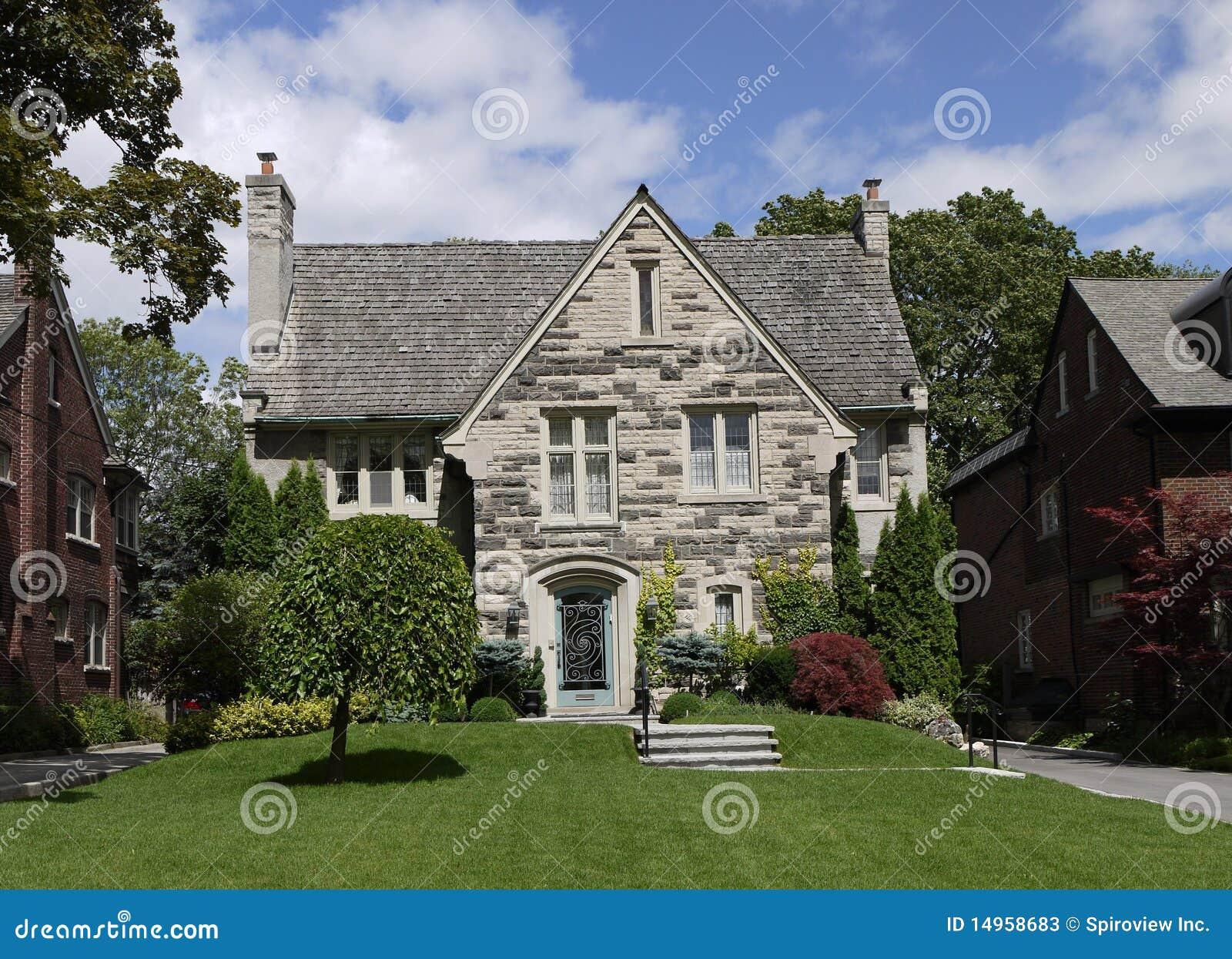 Elegant house with stone gable stock image image 14958683 for Elegant stone