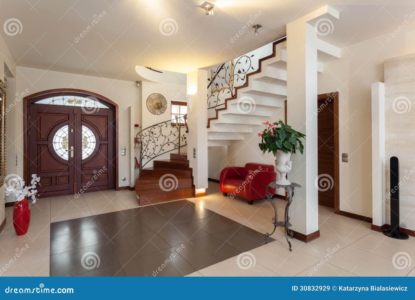 Elegant huis ingang royalty vrije stock afbeeldingen afbeelding 30832929 - Ingang van een huis ...