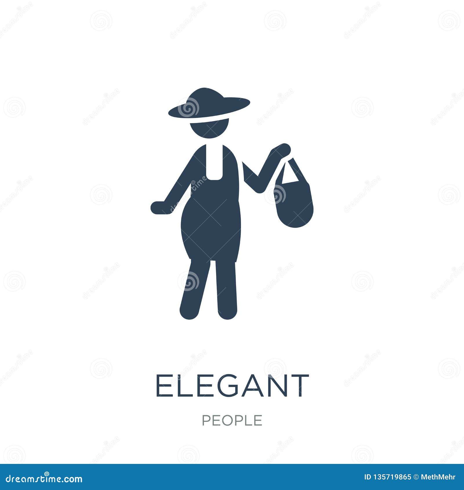 elegant icon in trendy design style. elegant icon isolated on white background. elegant vector icon simple and modern flat symbol