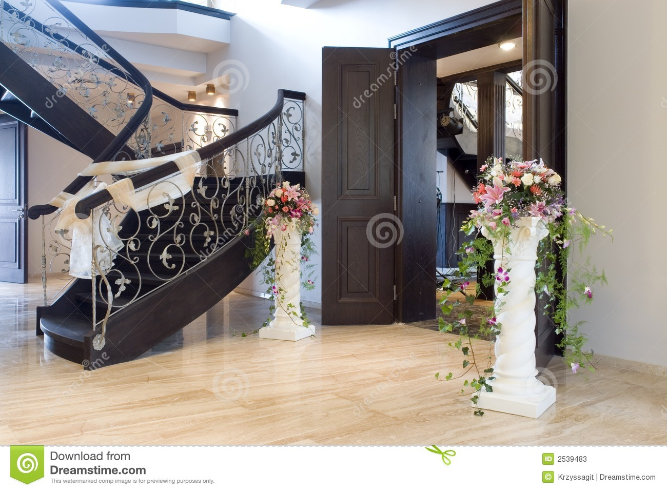 The Elegant Interior Of A House In The Entryway Or Foyer More In My