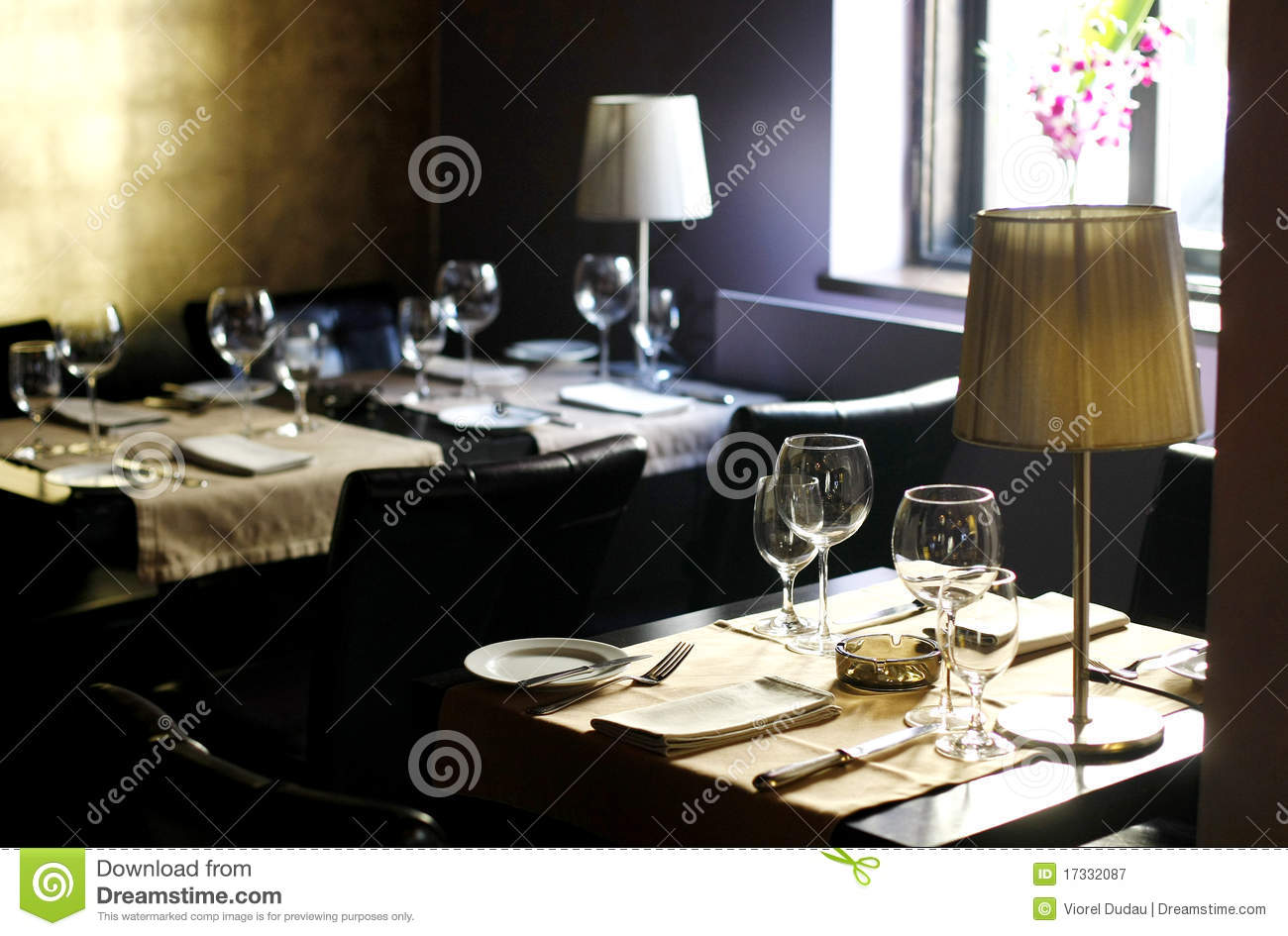 Elegant interior of a stylish restaurant