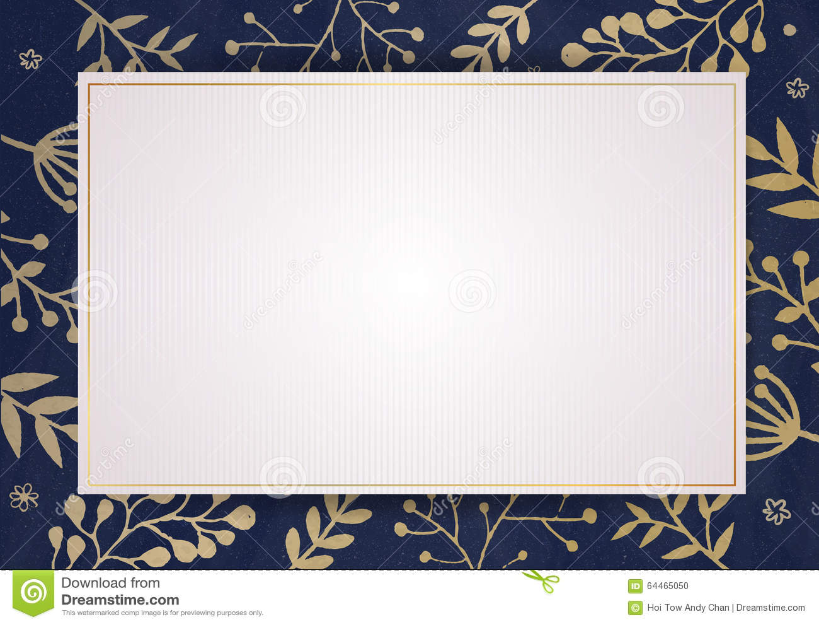 elegant invitation card with florals border stock photo