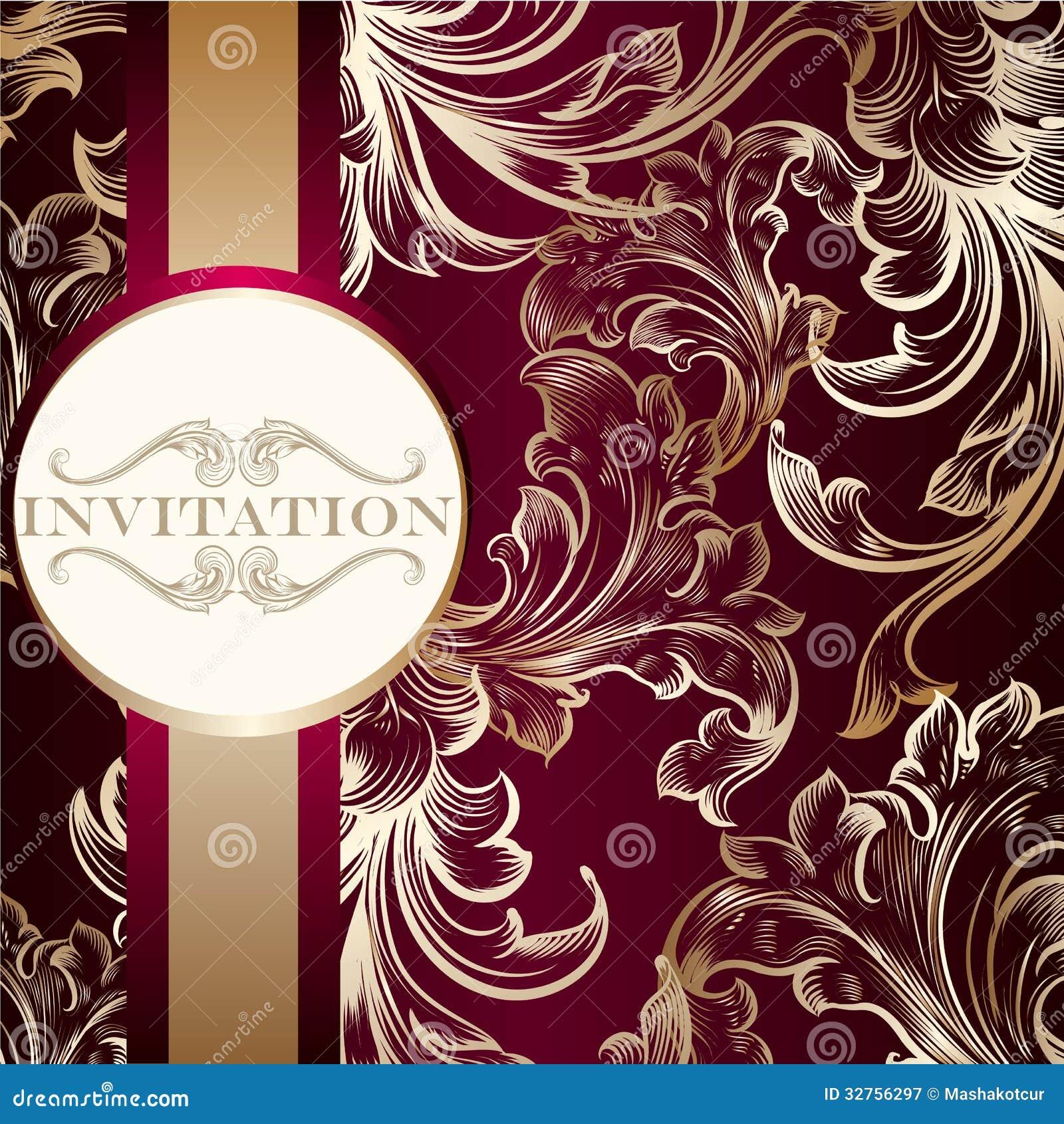 Elegant invitation card with ornament stock vector illustration of elegant invitation card with ornament stopboris Choice Image