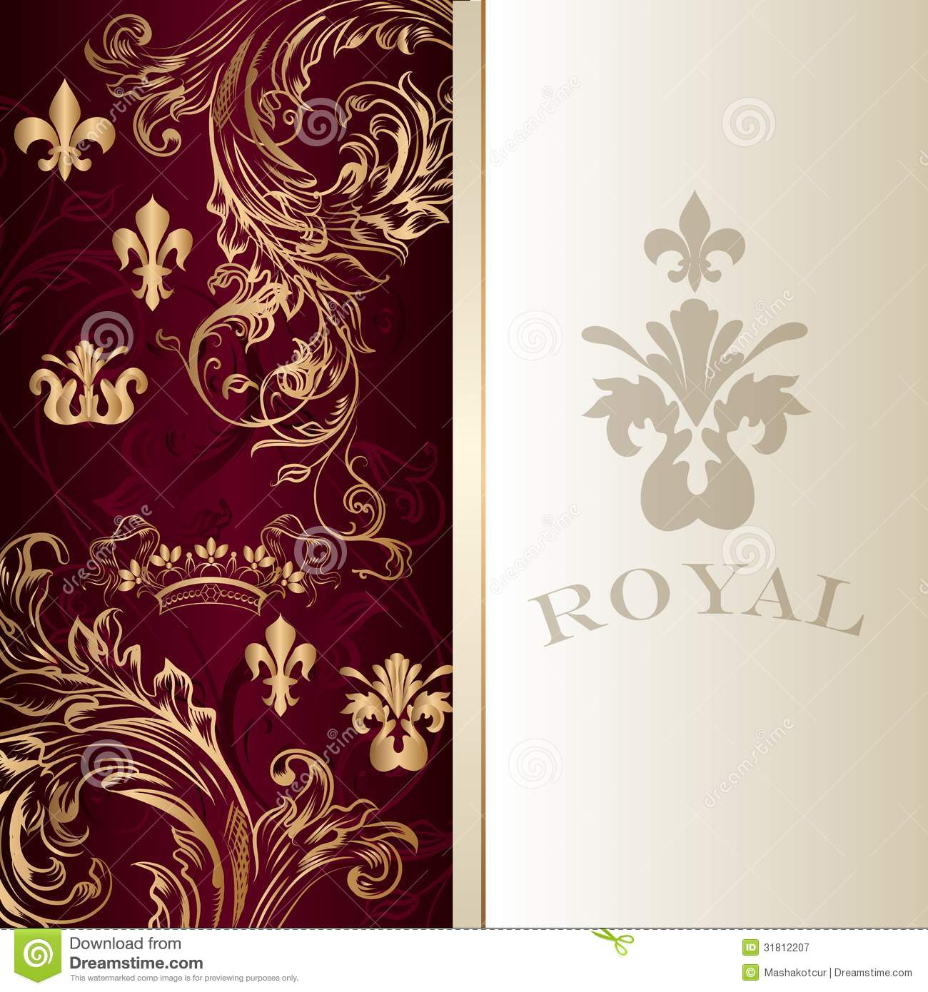 Elegant Invitation Card In Royal Luxury Style Stock Vector ...