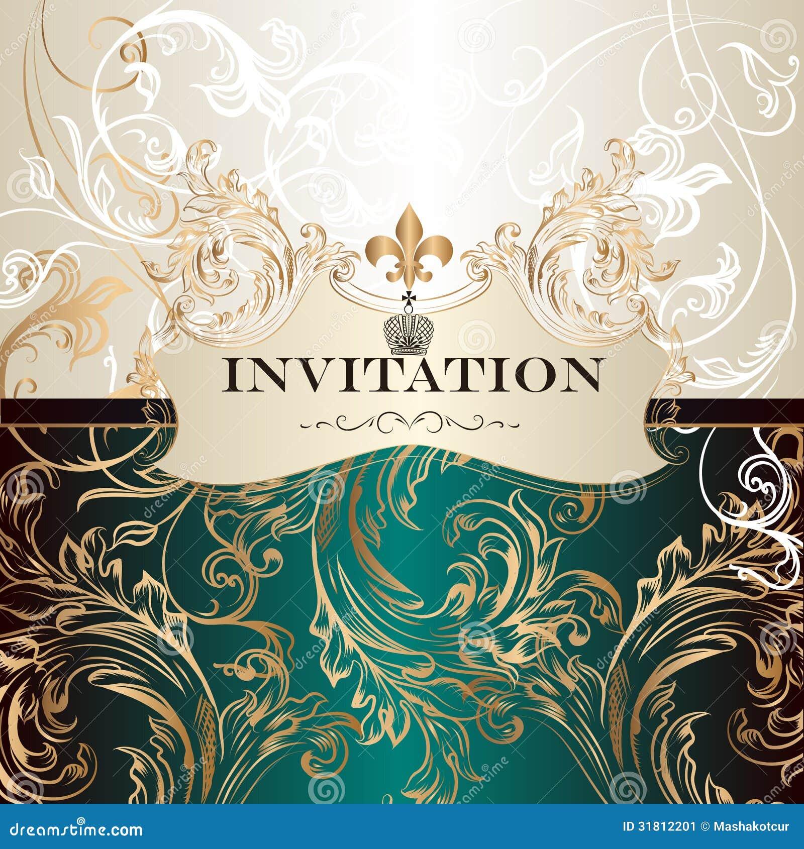 Elegant Invitation Card In Royal Style Stock Image