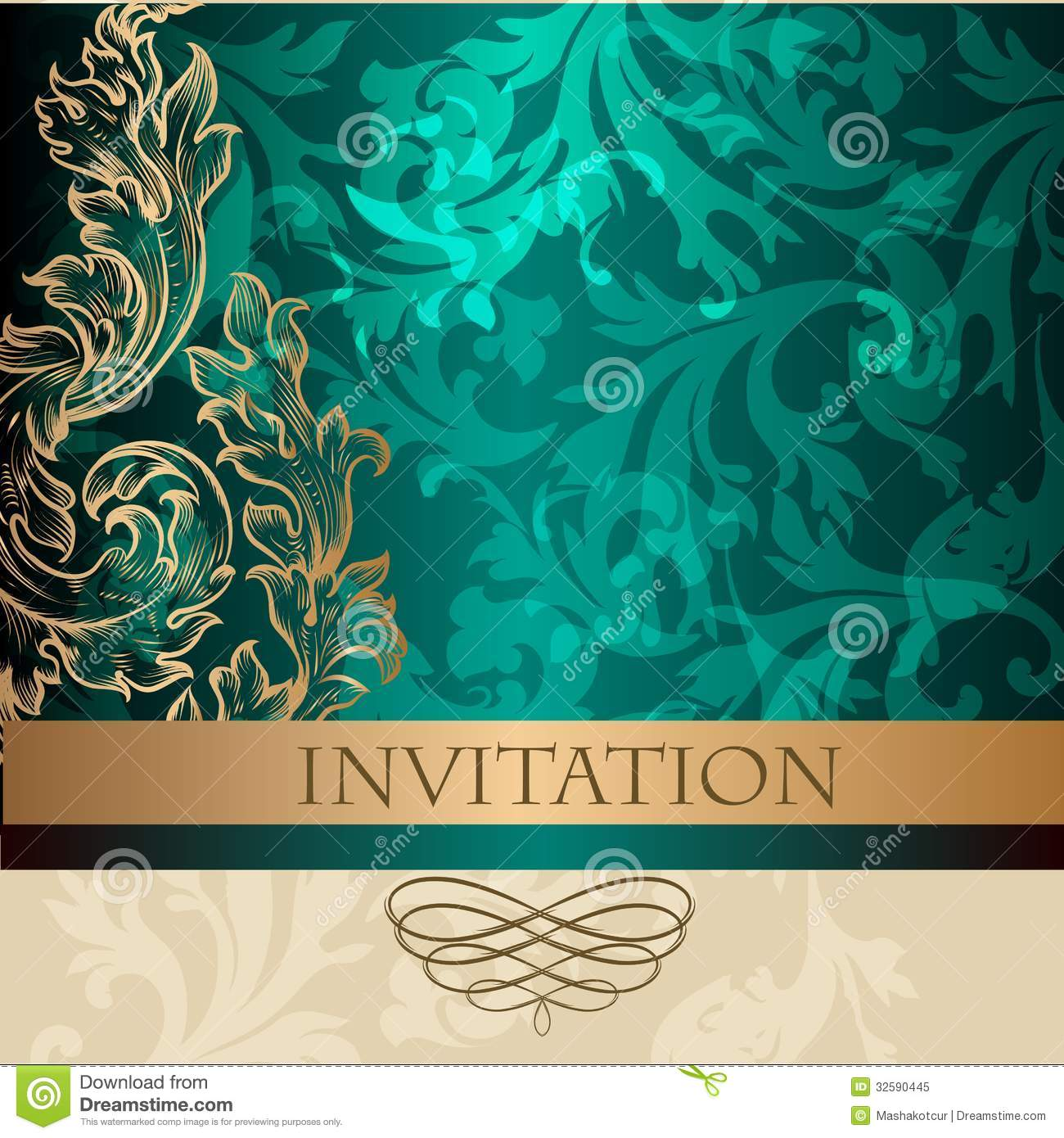 Elegant invitation card in vintage style stock vector illustration elegant invitation card in vintage style stopboris Image collections