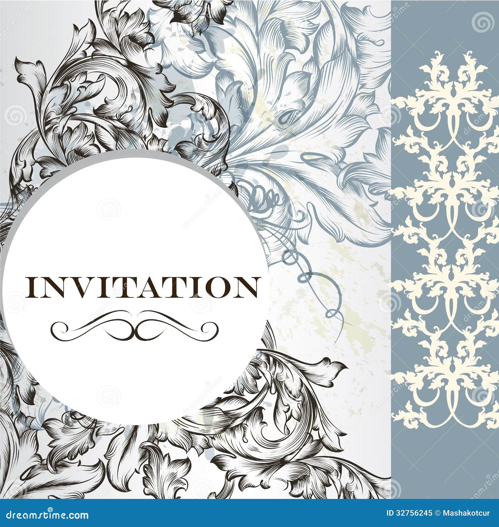 Elegant invitation card in vintage style stock vector illustration royalty free stock photo stopboris Choice Image