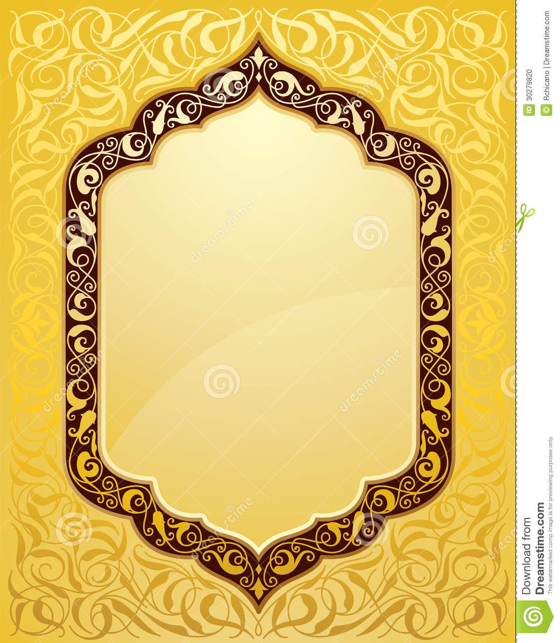 Elegant islamic template design stock photo image 30279820 for Muslim will template