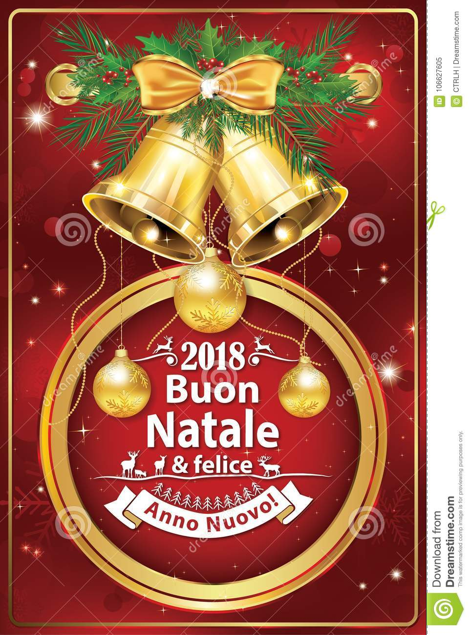 elegant italian new year greeting card for companies - Merry Christmas And Happy New Year In Italian
