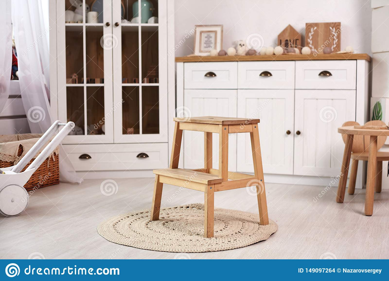 Enjoyable Elegant Kid S Room With A White Wooden Furniture And A Pabps2019 Chair Design Images Pabps2019Com