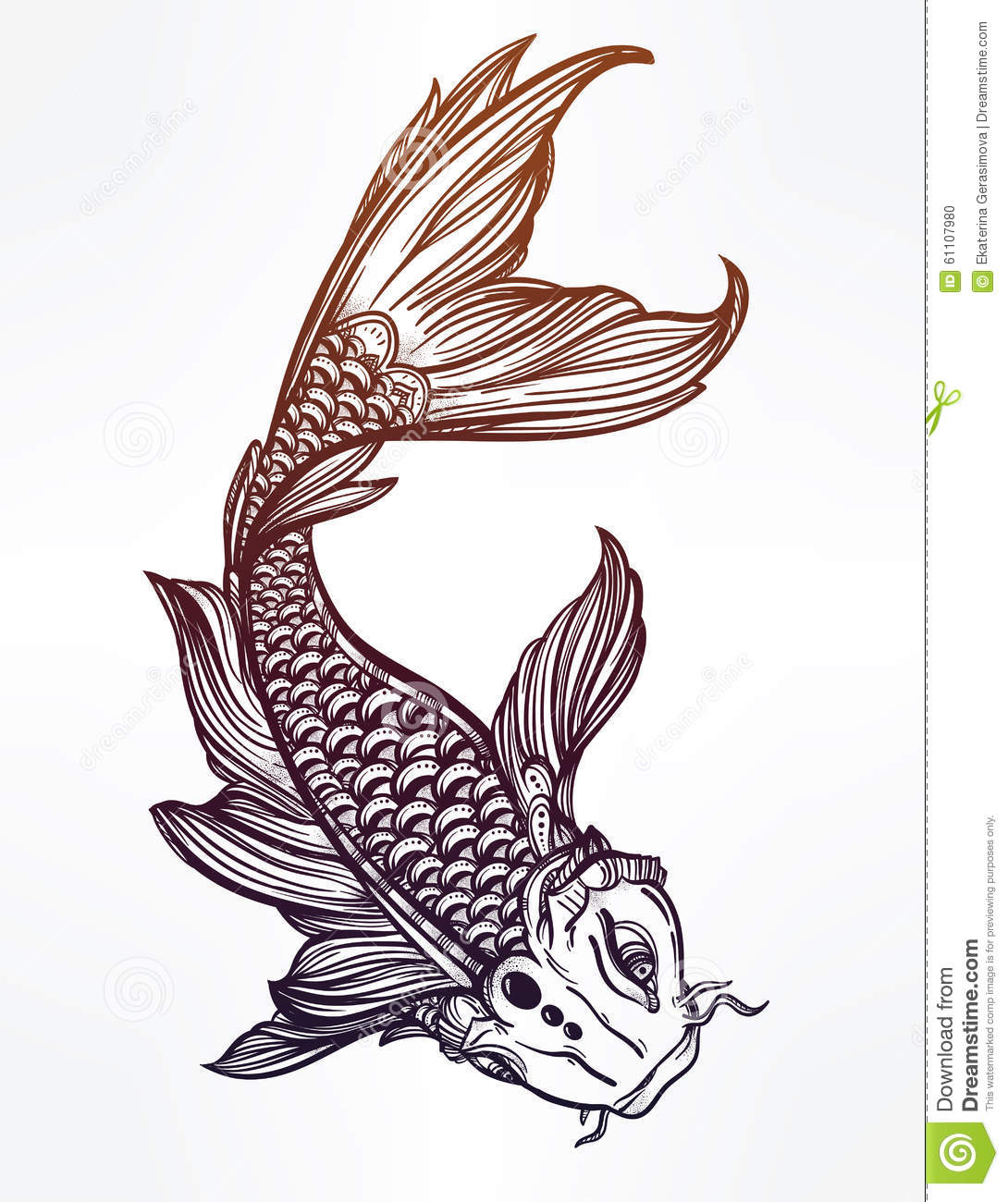 Image gallery koi fish illustrations for Koi fish vector