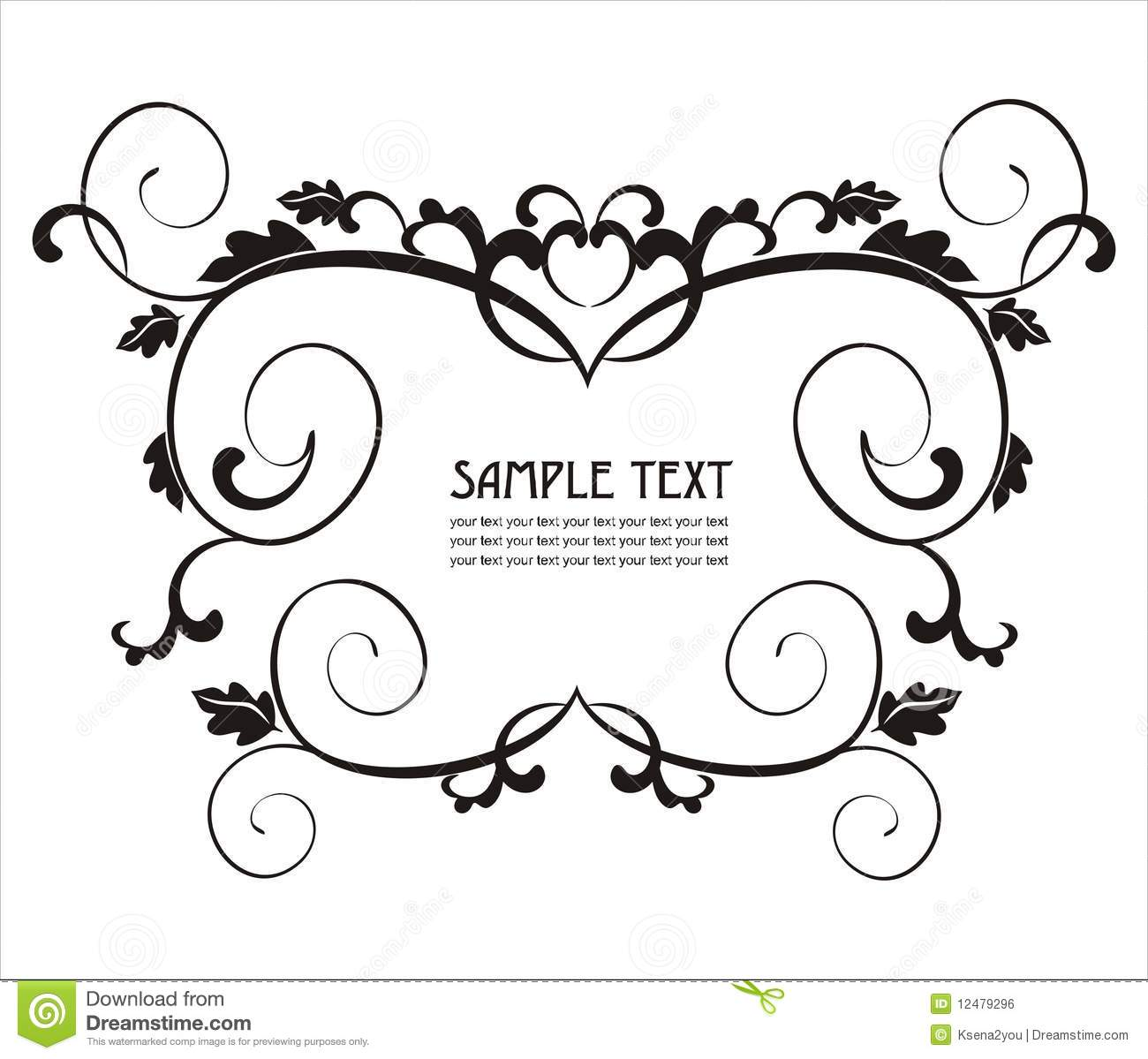 elegant label easy to modify stock vector illustration of rococo