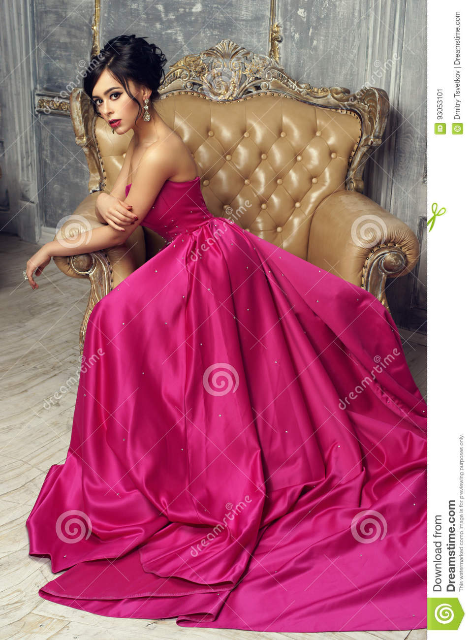 Elegant Lady Wearing Ball Gown Stock Image - Image of elegance ...