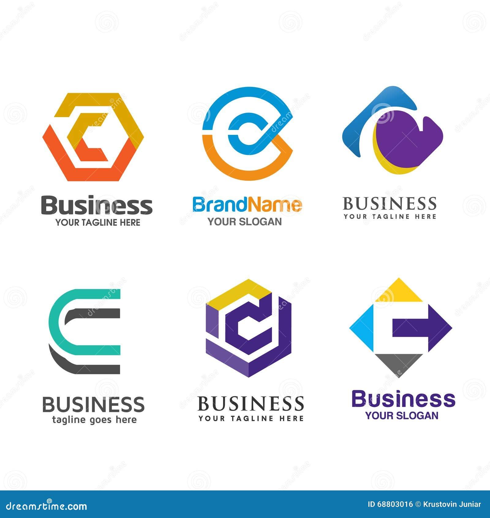 elegant letter c logo set stock vector illustration of graphic 68803016. Black Bedroom Furniture Sets. Home Design Ideas