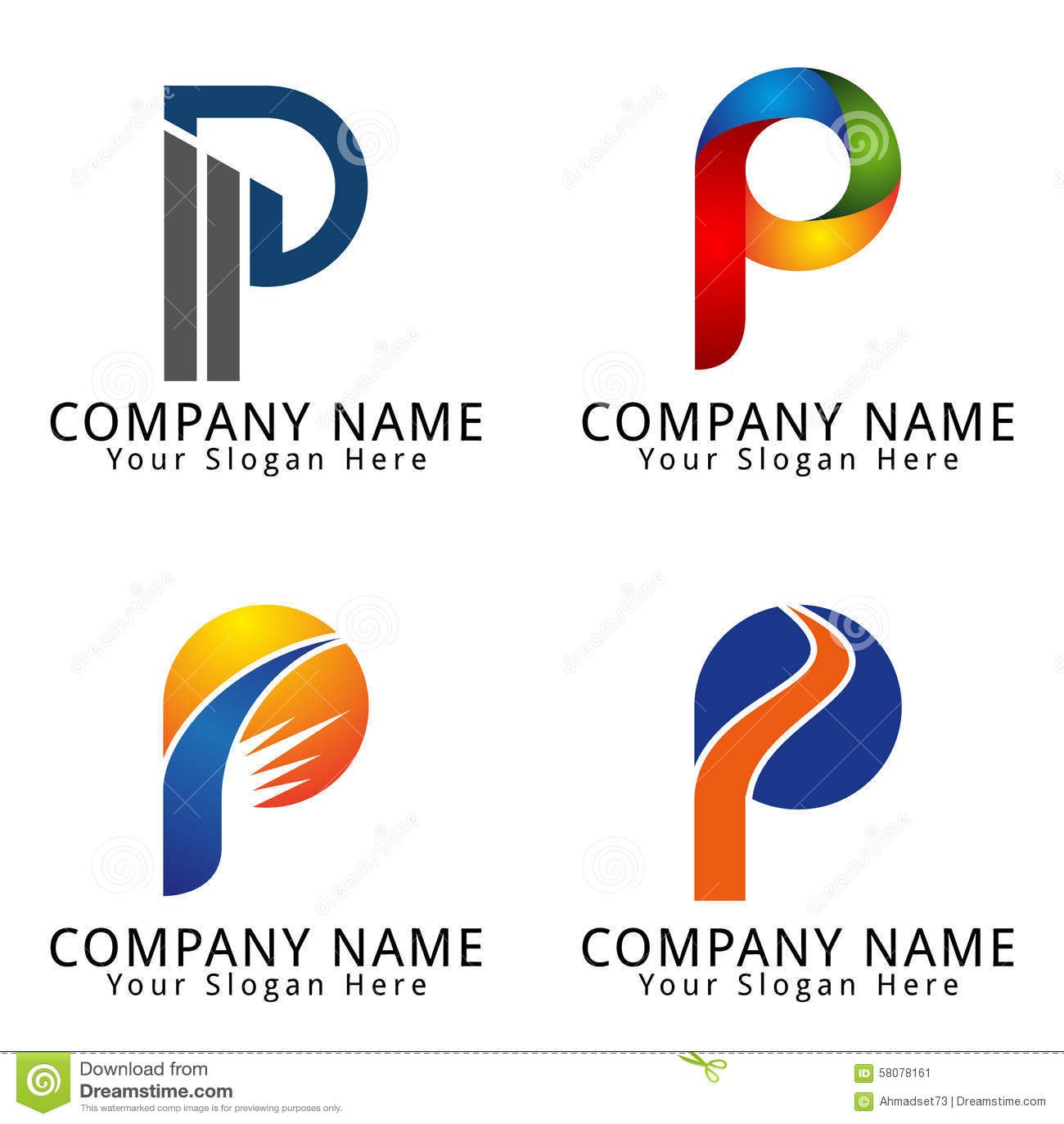 P Design: Stock Image: Elegant Letter P Concept Logo. Image: 58078161