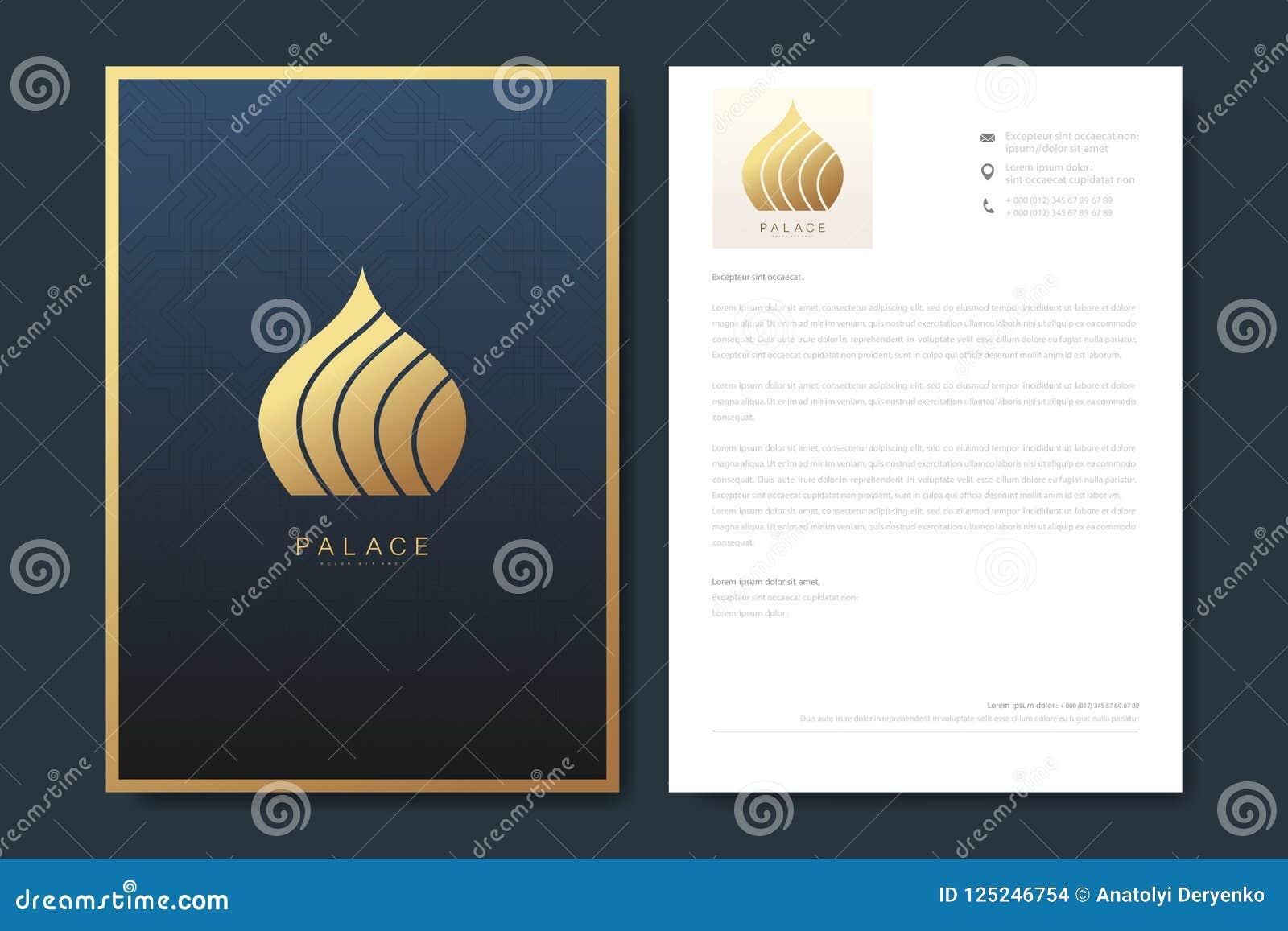Elegant Letterhead Template Design In Minimalist Style With Logo ...