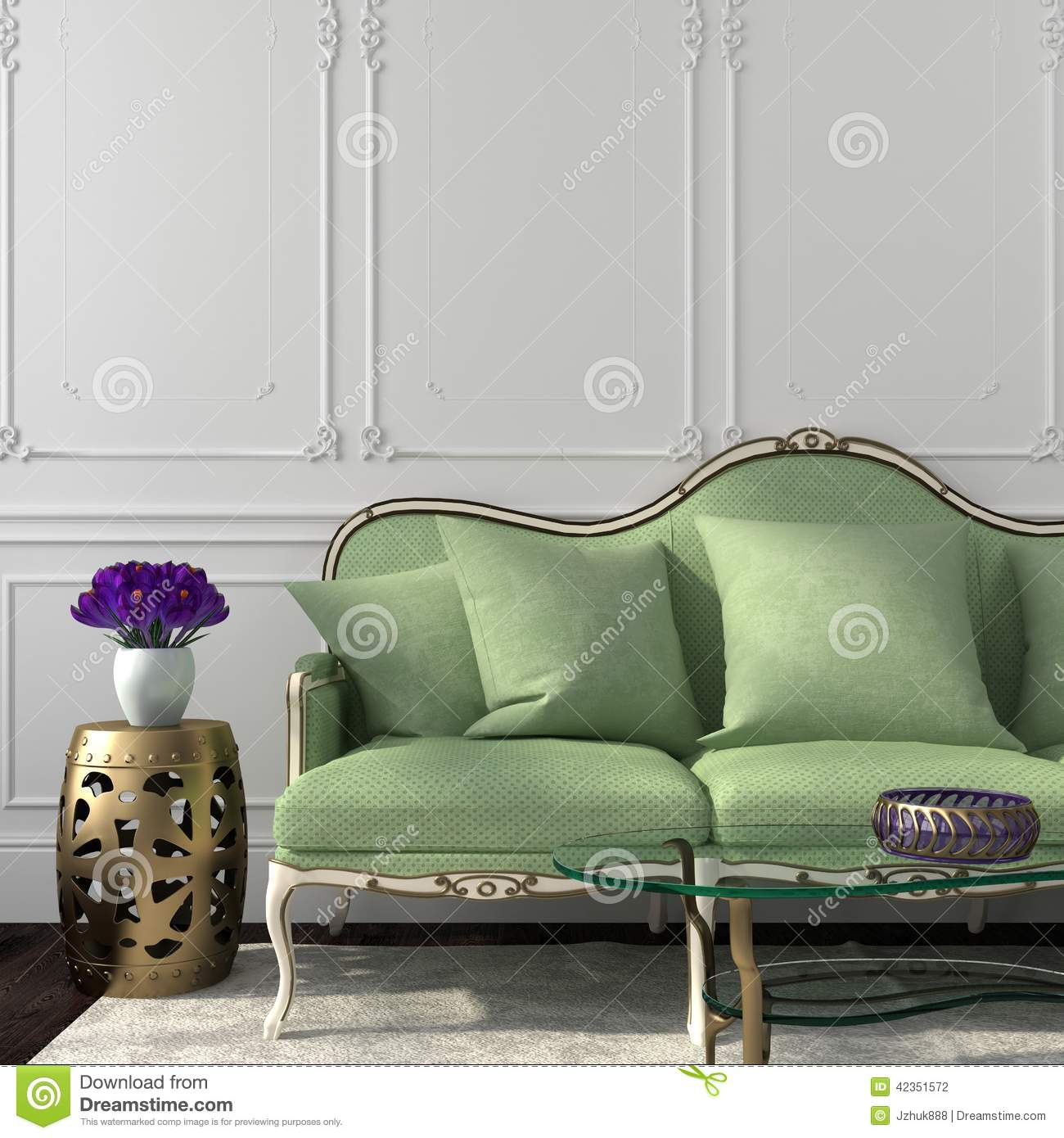 Classic Green Room Sofa ... Part 97
