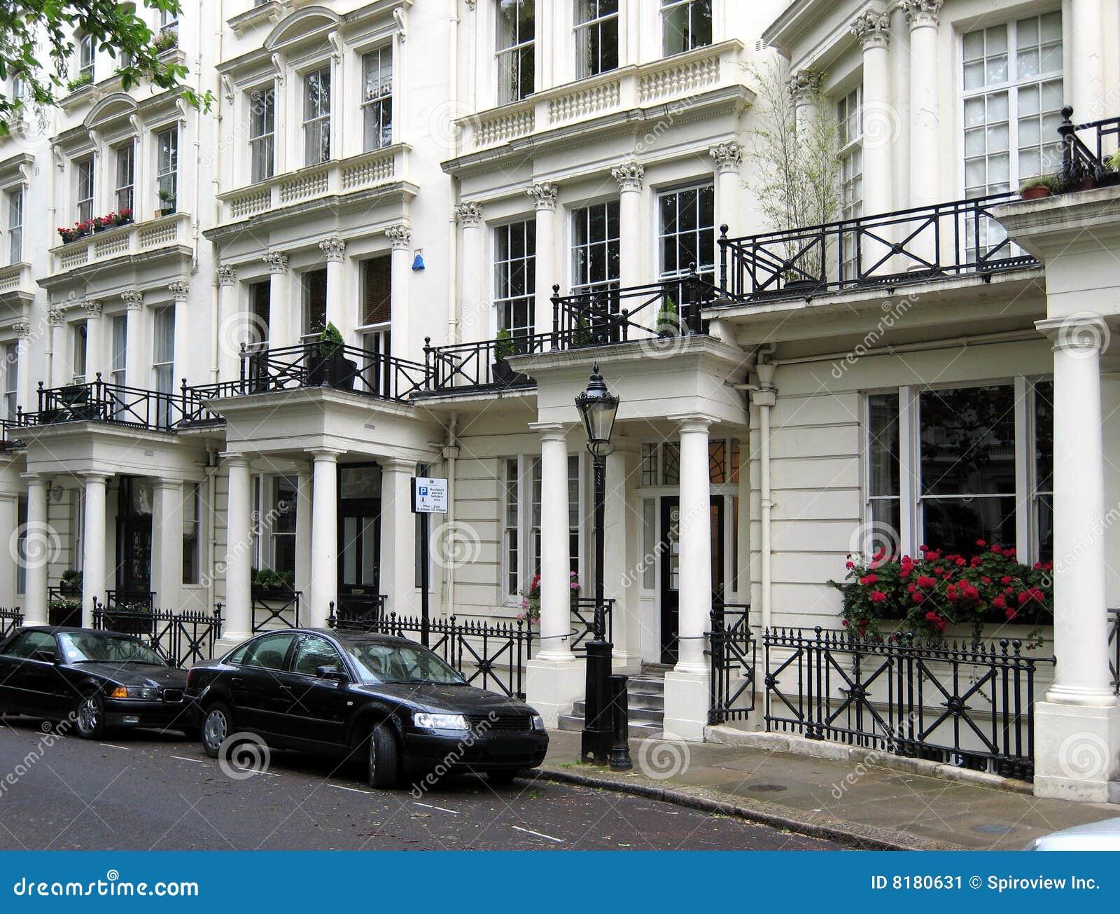 Elegant London Townhouses Stock Image Image Of Townhouse