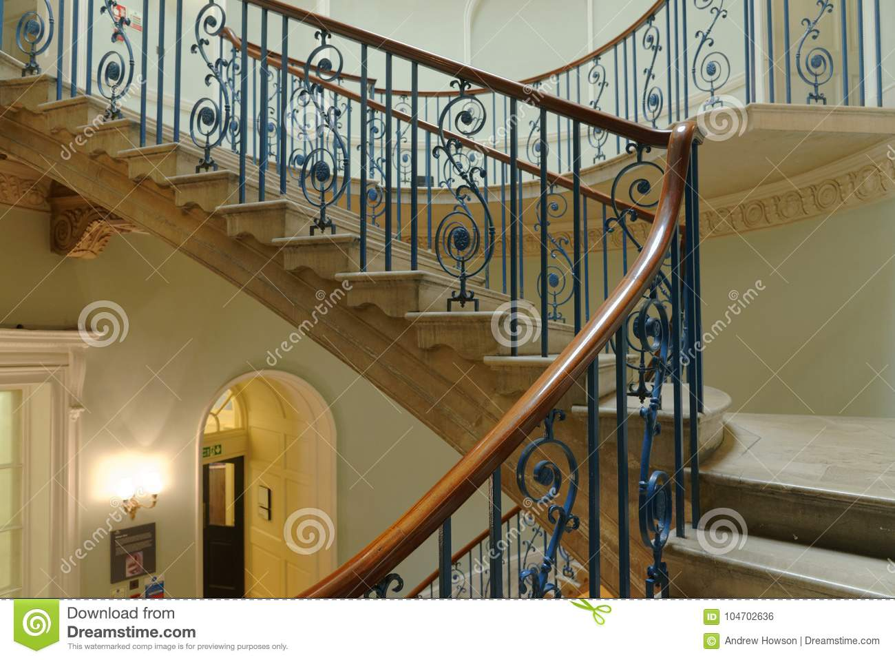 Download Elegant London Victorian Staircase Editorial Photo   Image Of  Blue, Architrave: 104702636