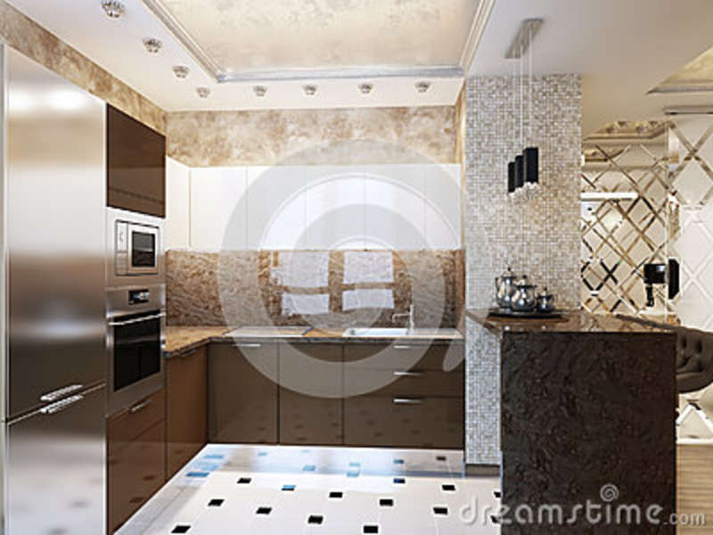 Elegant and luxurious modern kitchen interior design