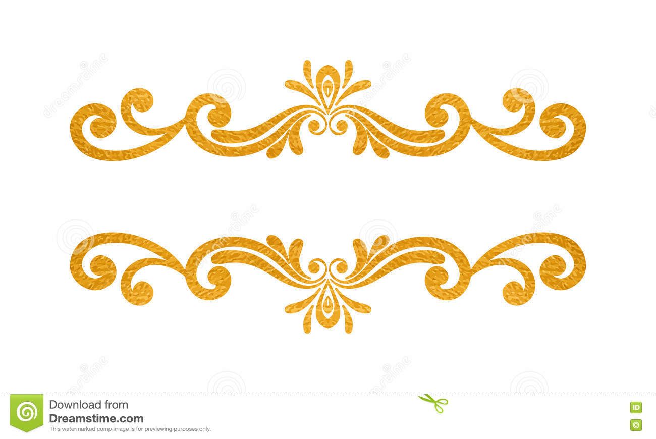 elegant luxury vintage gold floral border stock vector
