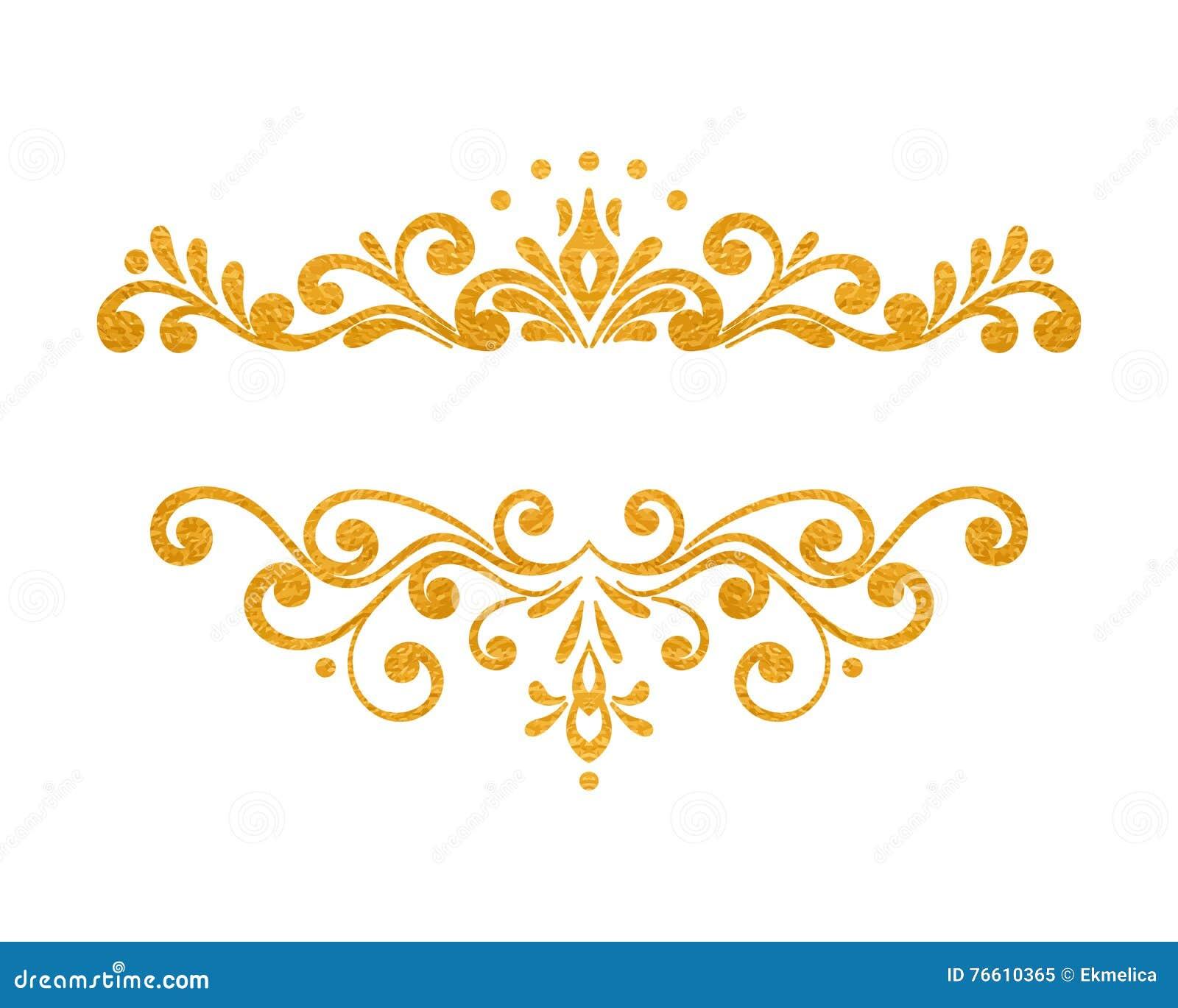 Elegant Gold Borders on Victorian Ornamental Border Brown