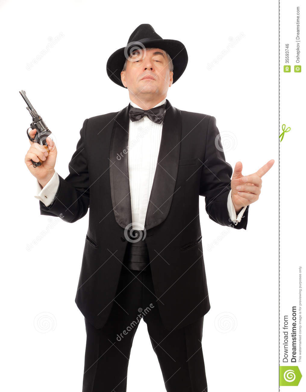 The Elegant Man In A Tuxedo Stock Photo Image Of