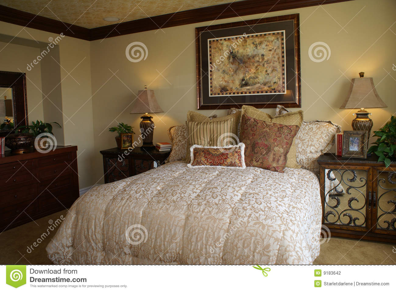 Elegant master bedroom stock photography image 9183642 Elegant master bedroom bedding
