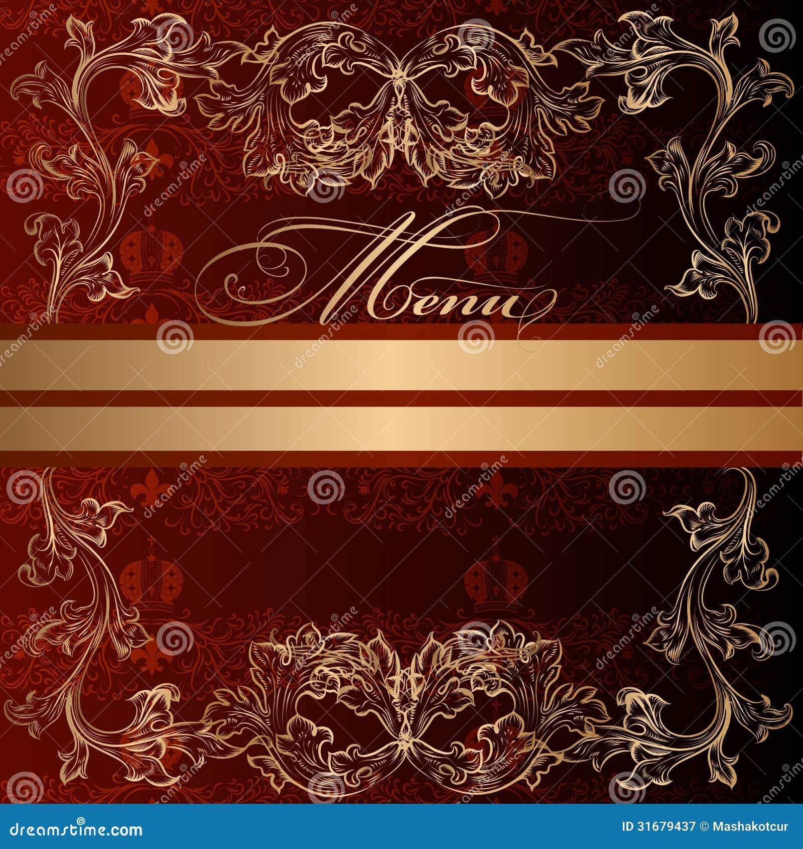 Elegant Invitation Card In Royal Luxury Style Stock Vector ...