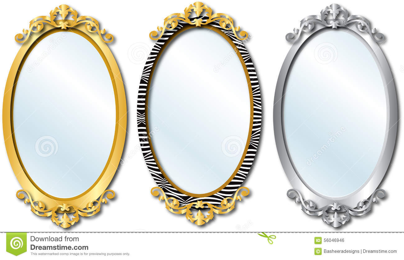Different Shaped Mirrors elegant mirrors stock vector - image: 56046946