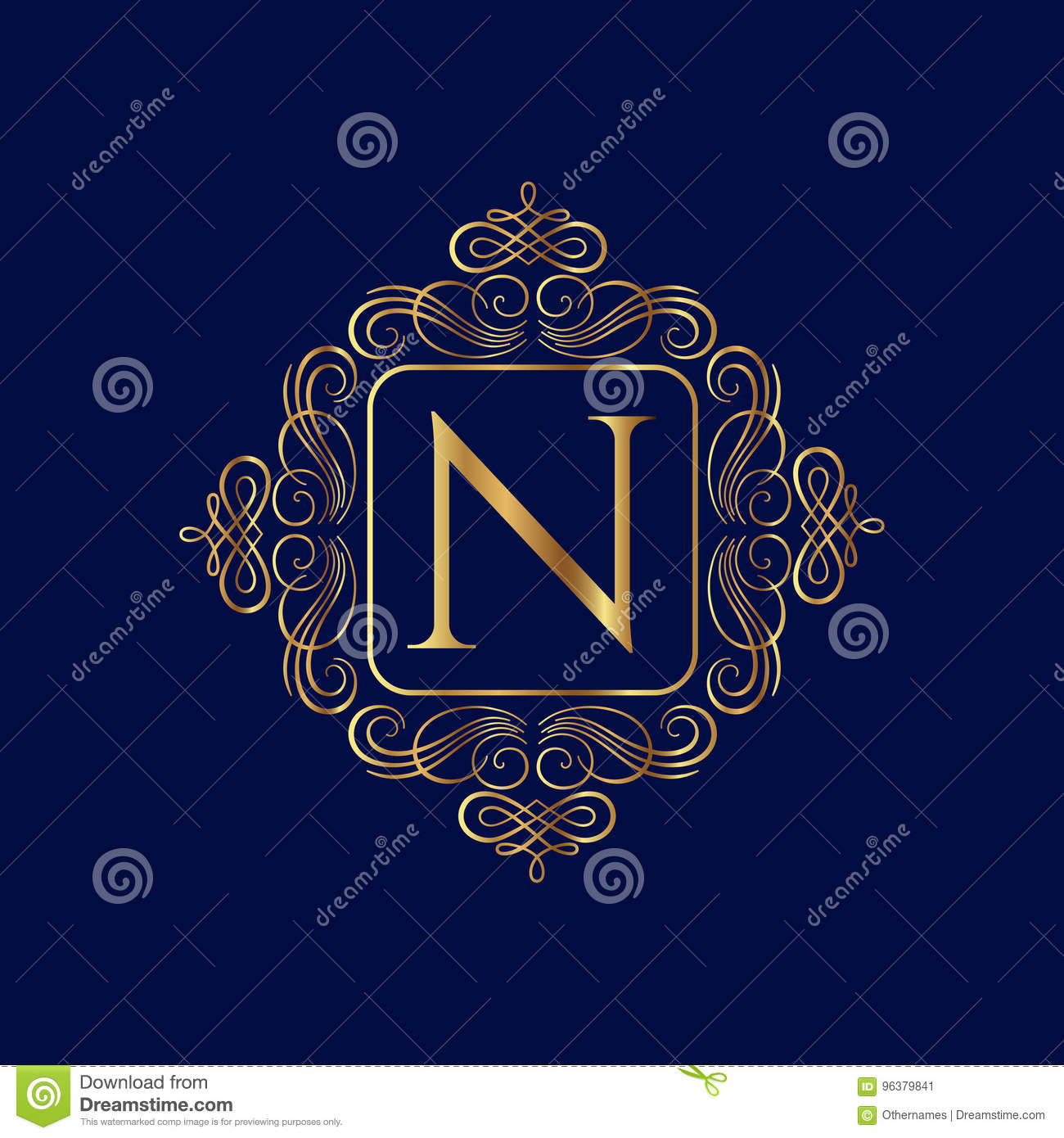 Elegant Monogram Design Template Wedding Monogram Stock Vector