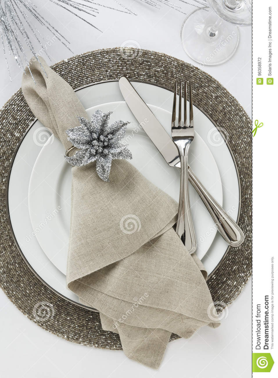 Elegant New Year`s Eve Or Christmas Holiday Place Setting ...