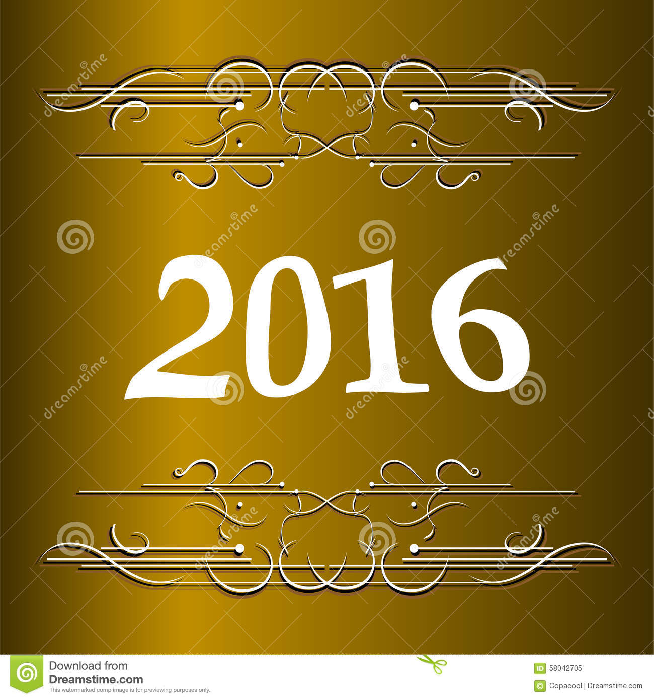 elegant new years card with hand lettering happy new year 2016