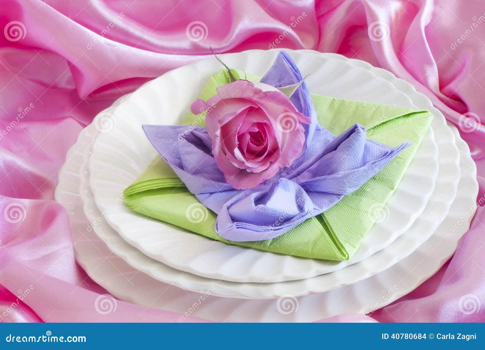 Elegant Origami Napkins Stock Photo Image Of Dinner 40780684