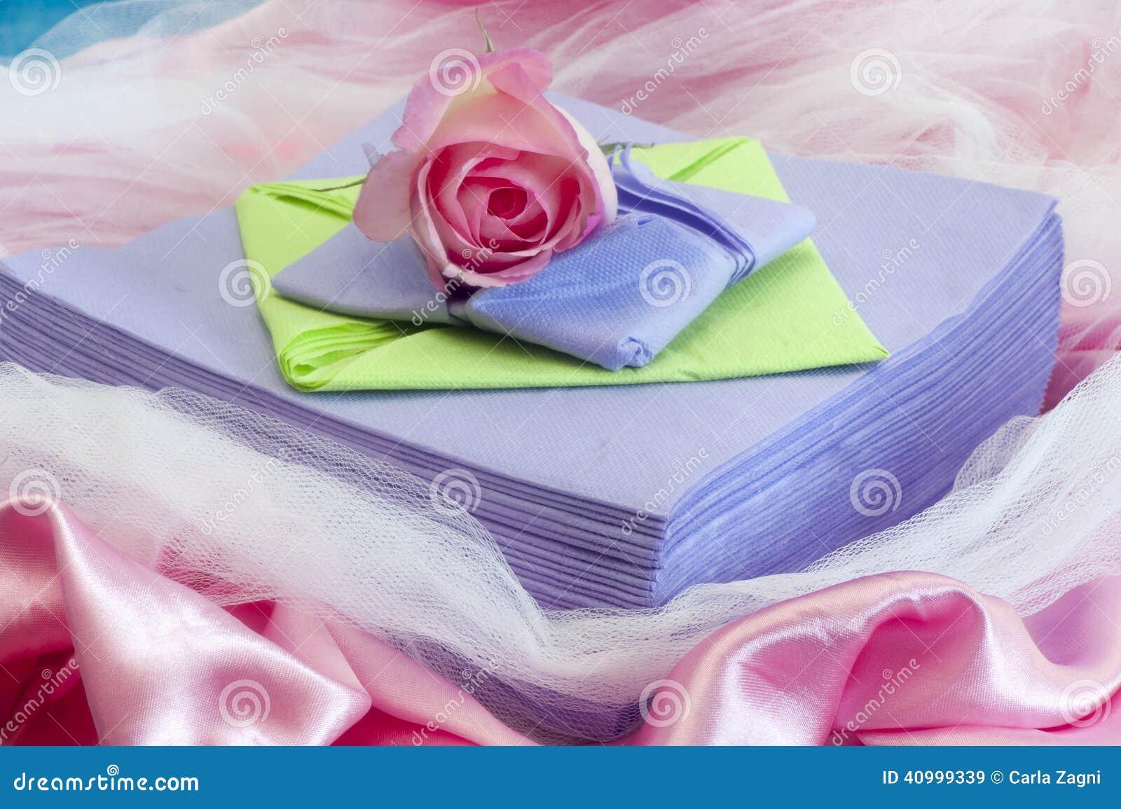 Elegant Origami Napkins Stock Image Image Of Lunch Menu 40999339