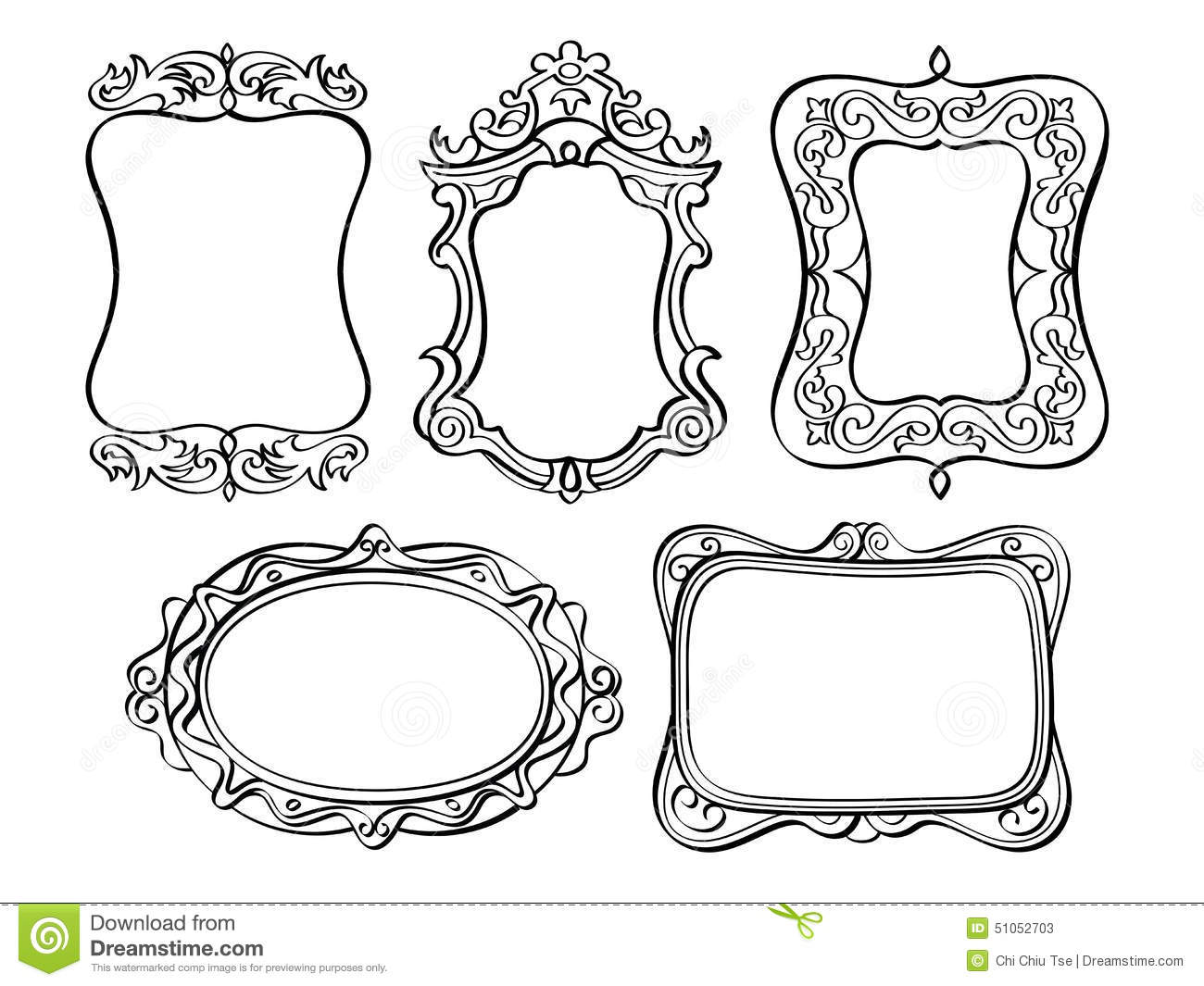 Elegant Ornate Frames Stock Illustration Illustration Of Elegance